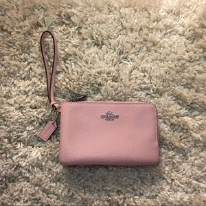 Brand new! Coach double zipper wristlet
